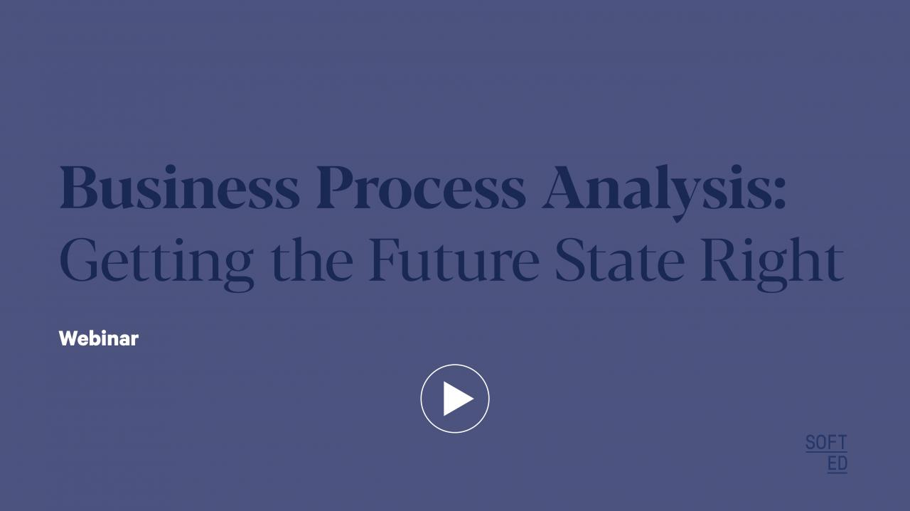 Business Process Analysis: Getting the future state right