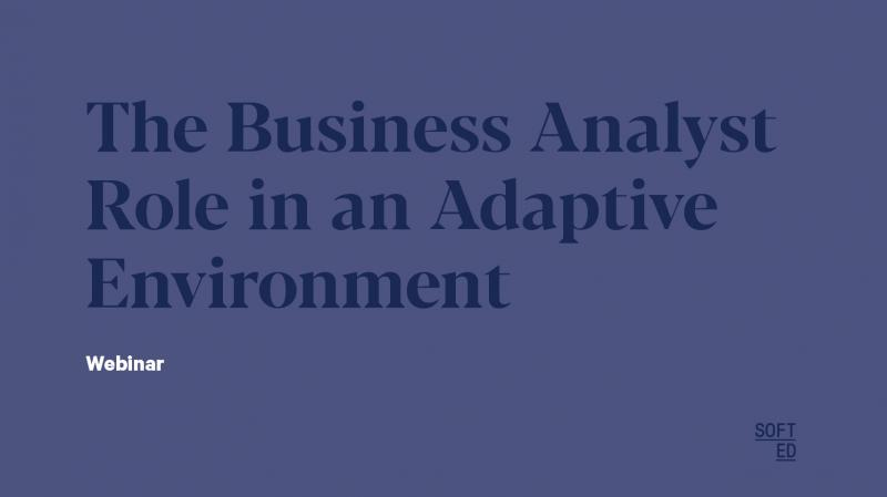 The Business Analyst Role in an Adaptive Environment
